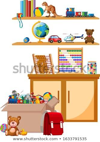 Abaco shelf illustrazione sfondo arte disegno Foto d'archivio © bluering