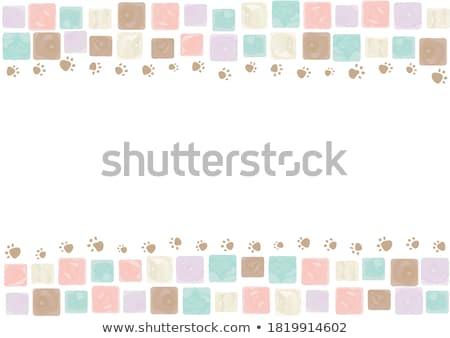 ПЭТ собака красочный мозаика шаблон графических Сток-фото © vector1st