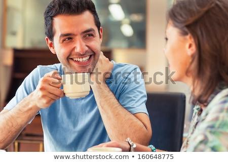genç · içme · kahve · işadamı · ayakta · beyaz - stok fotoğraf © deandrobot