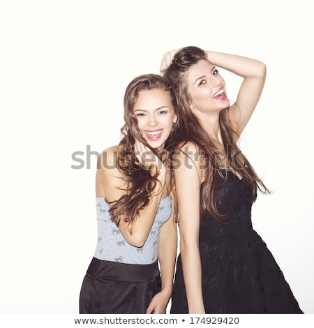 Image of laughing punk couple hugging and looking at camera Stock photo © deandrobot