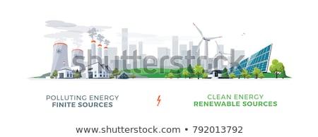 Nucleare centrale elettrica vettore cartoon illustrazione isolato Foto d'archivio © RAStudio