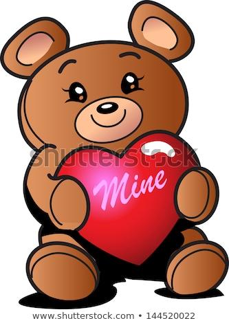 Teenage couple with teddy bear Stock photo © IS2