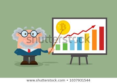 профессор ученого bitcoin роста Сток-фото © hittoon