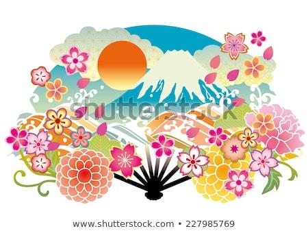 Monte · Fuji · pinheiro · árvore · nuvens · paisagem · relaxar - foto stock © craig