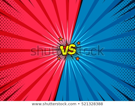 versus fight comic style background Stock photo © SArts