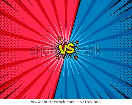versus fight comic style background Stock photo © SArts