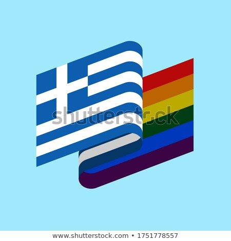 Greece LGBT flag. Greek Symbol of tolerant. Gay sign rainbow Stock photo © popaukropa