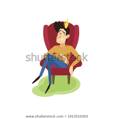 piccolo · prince · illustrazione · cute · arte · spada - foto d'archivio © maryvalery