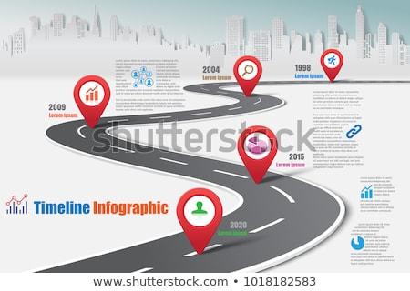 útvonal térkép autótérkép város üzlet absztrakt Stock fotó © popaukropa