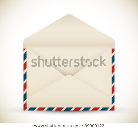 Vector abierto vintage aire mail dotación Foto stock © orson