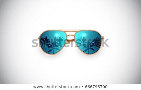 retro · zonnebril · ingesteld · strand · oog · zon - stockfoto © andrei_
