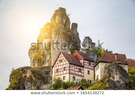 Köy İsviçre Almanya Bina manzara kilise Stok fotoğraf © manfredxy