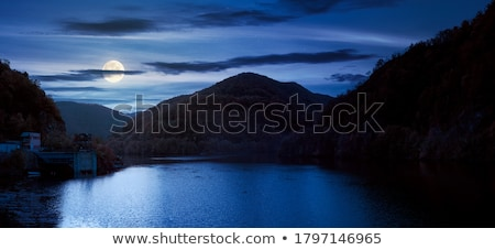 Stock photo: Autumn Landscape with Lake