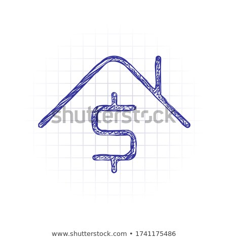 House and dollar on seesaw hand drawn outline doodle icon. Stock photo © RAStudio
