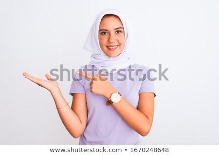 肖像 · 美しい · スマート · 小さな · ムスリム · 女性 - ストックフォト © deandrobot