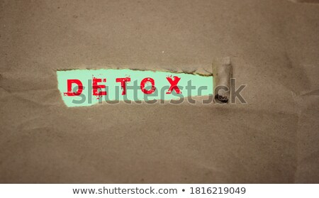 Detoxification Green Torn Paper Concept Stock photo © ivelin