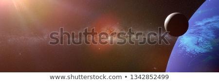 ruimte · exploratie · banner · iconen · web · design · lijn - stockfoto © genestro