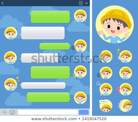 óvoda fiú ablak szett különböző család Stock fotó © toyotoyo