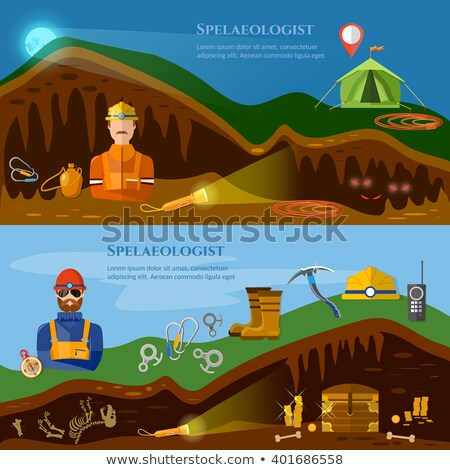desenho · animado · subterrâneo · caverna · natureza - foto stock © bluering