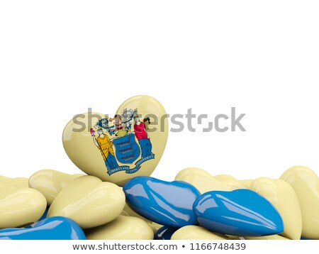 Heart shaped new jersey state flag. United states local flags Stock photo © MikhailMishchenko