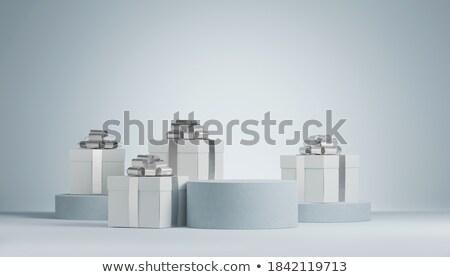 Zilver 3D ingesteld Stockfoto © SArts