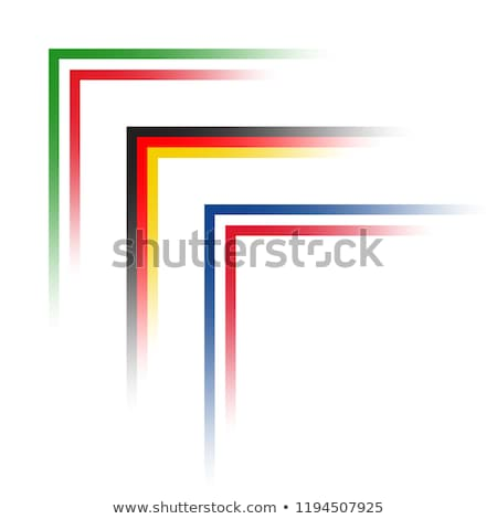 Vector simple corners in the look of Italian, German and French tricolors, Made in Italy, France and Stock photo © kurkalukas