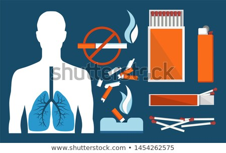 Sick Human Lungs and Harmful Tobacco Products Set Stock photo © robuart
