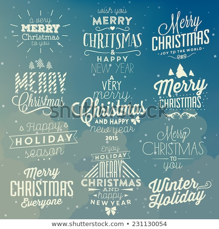 merry christmas text card from the world stock photo © daboost
