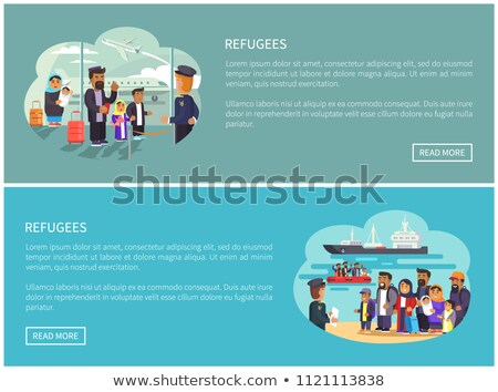 Refugees Collection Web Pages Vector Illustration Stock photo © robuart