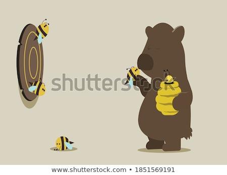 Entediado pequeno abelha desenho animado ilustração olhando Foto stock © cthoman