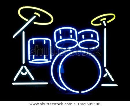 Drum Neon Sign Stock photo © Anna_leni