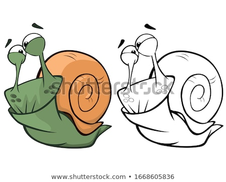 Snail Cartoon Character Mascot Design Stock photo © ridjam