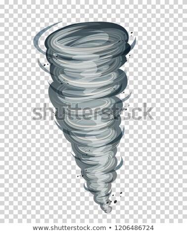illustrazione · nero · tornado · stormy · cielo · tempesta - foto d'archivio © bluering