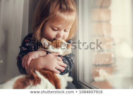 children with pet cats stock photo © bluering