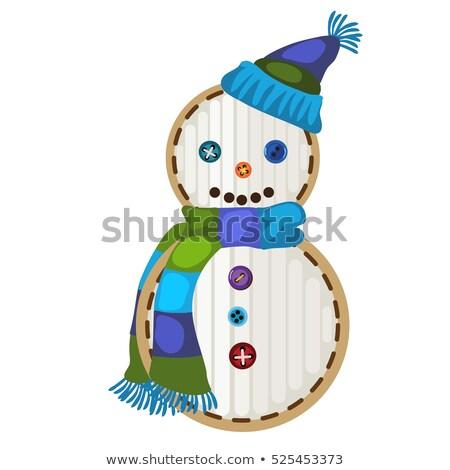 forma · desenho · animado · boneco · de · neve · isolado - foto stock © Lady-Luck
