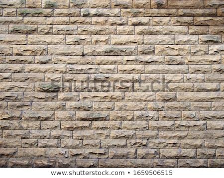 砂岩 壁 ブロック 赤 ランダム ストックフォト © fotogal