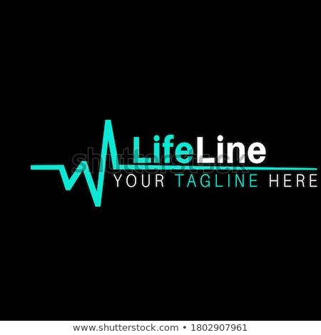 Logo cardio clínica aislado blanco resumen Foto stock © konturvid