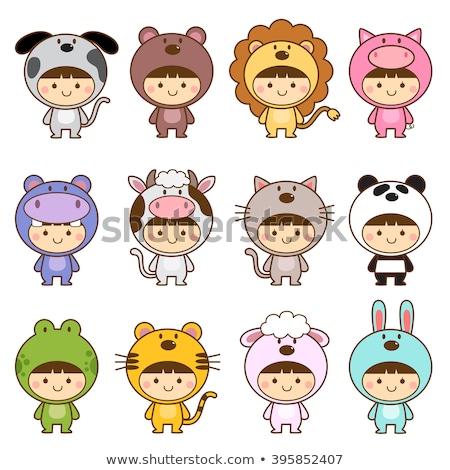 Bonitinho desenho animado festa sapo mascote Foto stock © doomko