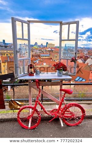 idyllic zagreb upper town christmas market decorations stock photo © xbrchx