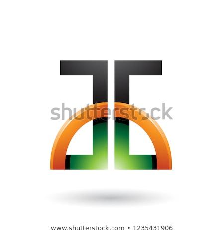 zwarte · groene · oranje · vector · illustratie - stockfoto © cidepix