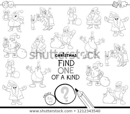 find one of a kind Santa Claus color book Stock photo © izakowski