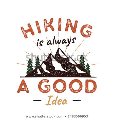 屋外 冒険 バッジ 引用 ハイキング 良い ストックフォト © JeksonGraphics