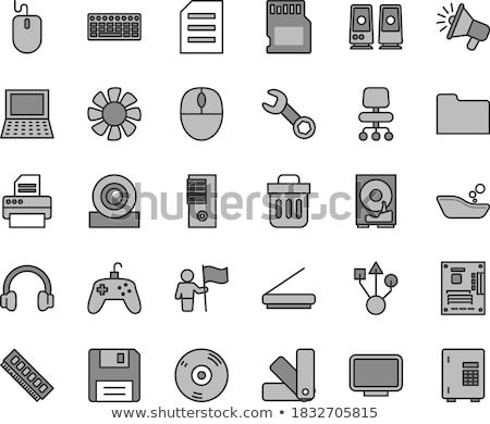 Loudspeakers with Bolts Set Vector Illustration Stock photo © robuart