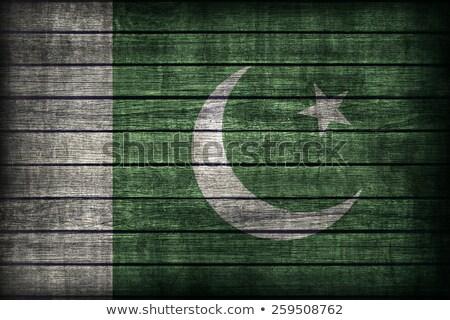 Flag of Pakistan on wooden board Stock photo © colematt