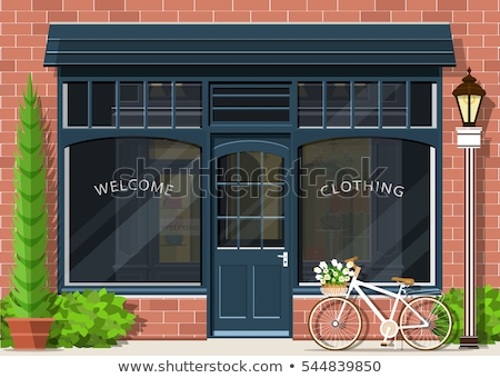 Shopping Shops, Stores with Luxury Clothes Vector Stock photo © robuart