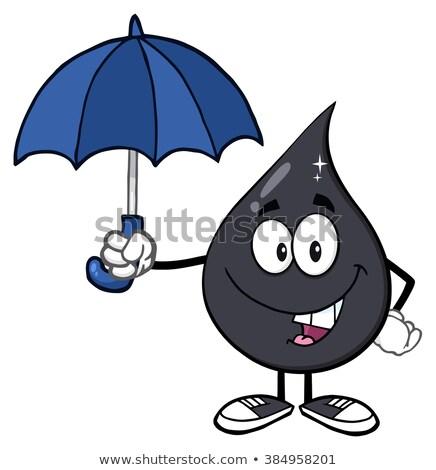 Petroleum olie drop paraplu bescherming Stockfoto © hittoon