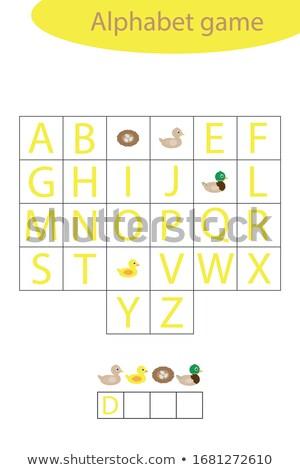 Pisownia słowo gry kaczka ilustracja szkoły Zdjęcia stock © colematt