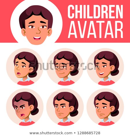 Asian ragazza avatar set vettore liceo Foto d'archivio © pikepicture