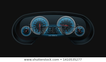 Tachimetro contachilometri scale vettore isolato Foto d'archivio © robuart