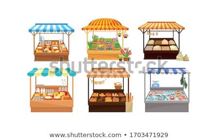 Panetteria alimentare prodotti vettore pane shelf Foto d'archivio © robuart